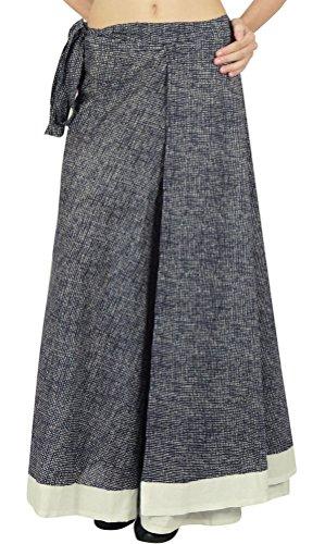 Einzelne Schicht Kleid Baumwolle Wrap Phagun Gedruckt Rock Größe Langen Sari Sarong (Wrap-around-rock-muster)