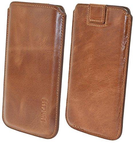 Suncase Original Echtleder Etui Tasche für Das iPhone X | XS (5.8