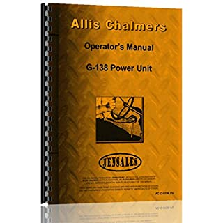 Allis Chalmers G138 Engine Operators Manual