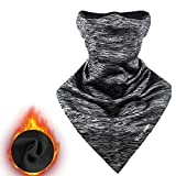 WESTGIRL Half Face Mask, Windproof Neck Gaiter with Ear Protection Fleece Balaclava Ultimate Thermal Retention, Breathable Tactical Hood for Cycling, Skiing Winter Outdoor Sports (Hellgrau)