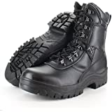 Mens Combat Military Black Army patrol Cadet Work High Leather Task Force Boots (6)