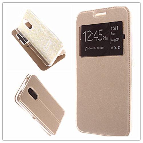 MISEMIYA - Hüllen Taschen Schalen Skins Cover für Ulefone Gemini - Hüllen, Cover Magnet Sport,Gold