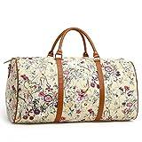 LeahWard Sacs fourre-Tout Grande Taille Femme Sacs à Main de Voyage Sacs à bandoulière Magnifiques 41412 (Beige 58x30cm)