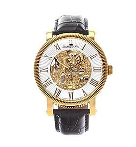 Lindberg & Sons Herren-reloj analógico de pulsera automático de cuero SK14H023 de Lindberg&Sons