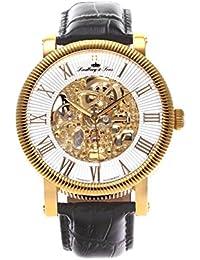 Lindberg & Sons Herren-reloj analógico de pulsera automático de cuero SK14H023