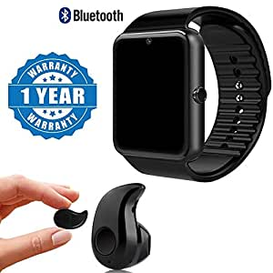 Captcha Bluetooth Smart Watch GT08 Phone With Camera and Sim Card & SD Card Support with S530 Mini Bluetooth headset