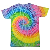 Colortone - Unisex Batik T-Shirt 'Rainbow' / Saturn, S