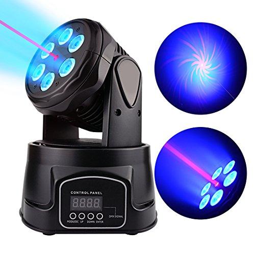 BETOPPER(LM70LR) Moving heads bühnen beleuchtung Mini spot LED licht dj party disco professionell DMX 512 9/14 kanal 6x8w LEDs RGBW mit rotem licht musik bar beleuchtung (60W)