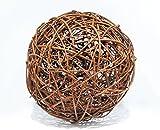 Floranica Weidenkugel in 5 Größen, EU Produkt, Dekokugel aus Weide Weidenball Rebenkugel Gartenkugel, Durchmesser:30cm