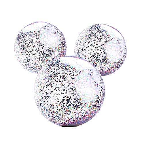 Aufblasbarer Glitter Wasserball, Transparenter Swimmingpool Party Ball