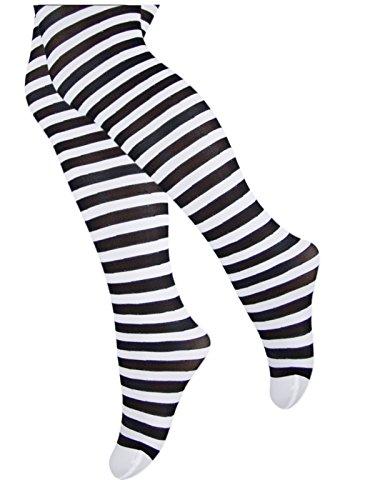tllc-striped-girls-tights-50-denier-opaque-microfibre-age-10-11-years-white-black-stripe