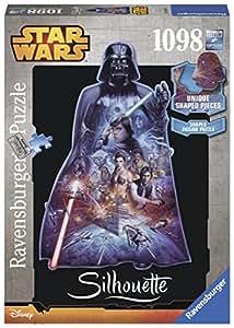 Ravensburger - 16158 - Puzzle Classique - Dark Vador/star Wars Silhouette - 1098 Pièces