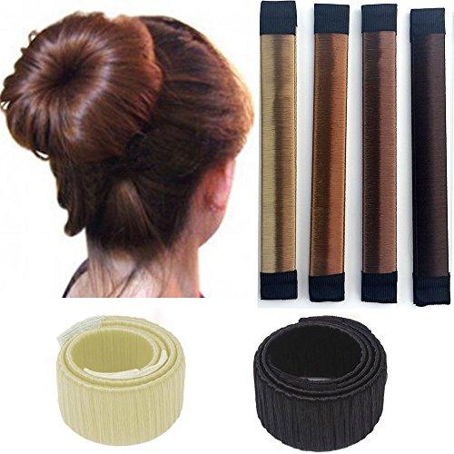 Rechoo 6pc/Set Damen Frauen Twist Haar Donut Bun Maker Haarstyling Tool Braid Halterung DIY Dutt Zubehör Werkzeug