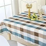 GWELL Wachstuch Tischdecke Wasserdicht Eckig Abwaschbar Schmutzabweisend Robust Tischtuch Pflegeleicht Haus Dekorationen blau 130 * 180cm