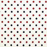 Polkadot - rot / marine - Grundton: weiß - 95 % Baumwolle