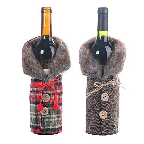 Couverture De Bouteille De Vin De Noël Bouteille de Vin...