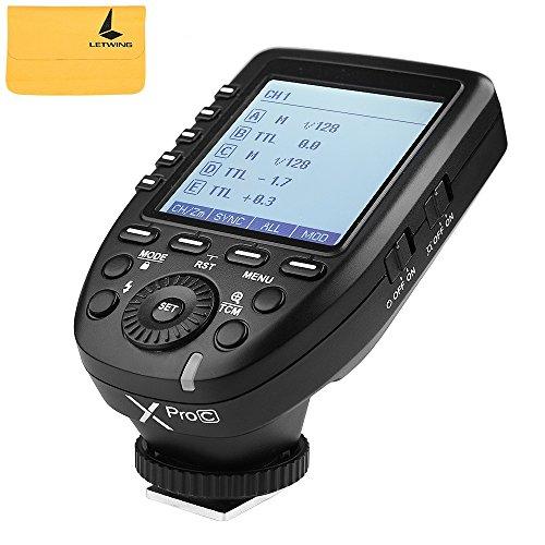 Godox Xpro-c E-TTL 2.4 G Wireless High Speed Sync 1/8000s X System HSS Blitzauslöser für Canon EOS Kameras (High-speed-kamera-blitz)