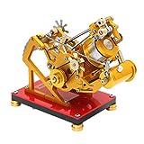 MRKE Stirlingmotor Bausatz Vakuum Absaugung Metall Stirling Engine Model Kit Spielzeug Geschenk für Stirling Modell Liebhaber ab 10 Jahren