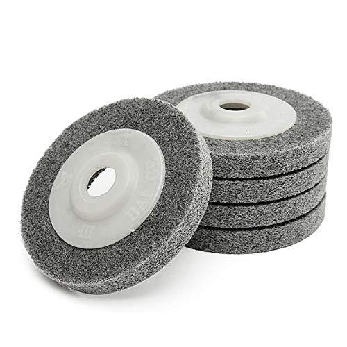 5 Stück 10,2 cm Fiberschleifscheiben Set 100 mm Metall Holz Polierscheibe Pads COD