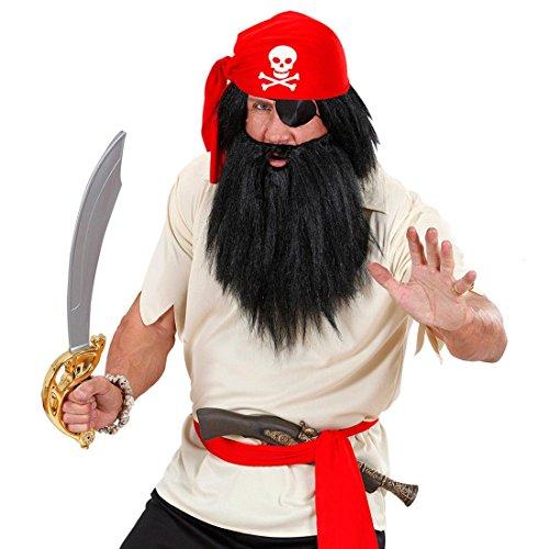 NET TOYS Chapeau de pirate rouge chapeau de carnaval pirate chapeau de déguisement corsaire pirates foulard chapeau rouge