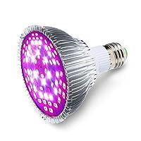 30W 78 LED مصباح النبات نمو ضوء كامل الطيف مصباح نبات داخلي