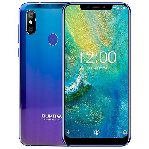 Smartphone Ohne Vertrag OUKITEL U23, 6GB+64GB Grosse Kapazität Handy Unterstützt Kabelloses Aufladen, 6.18''FHD+ Notch Display Android Global 4G Smartphone