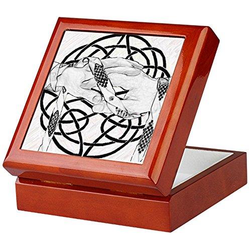 CafePress-handfasting Andenken Box-Keepsake Box, fertig Hartholz Jewelry Box, Samt Gefüttert Memento Box, mahagoni, Standard -
