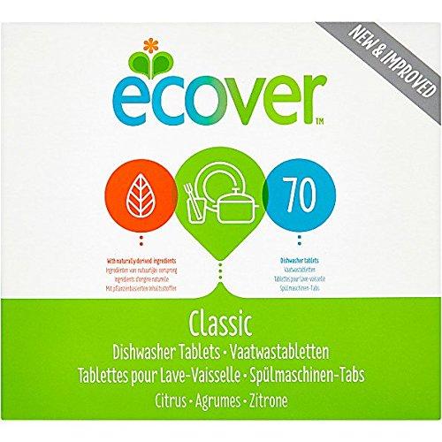 Ecover Geschirrspülmaschine Tablets (70) - Packung mit 6