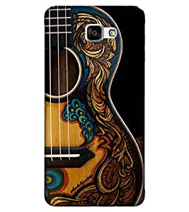 For Samsung Galaxy A9 Pro :: Samsung Galaxy A9 guitar, nice guitar, black background Designer Printed High Quality Smooth Matte Protective Mobile Pouch Back Case Cover by BUZZWORLD