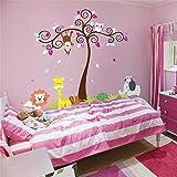 Malilove Tiere Wand Aufkleber Für Kinderzimmer Dekoration Affen Eulen Lion Tree Home Aufkleber Wandmalerei Kunst Schälen Und Stick