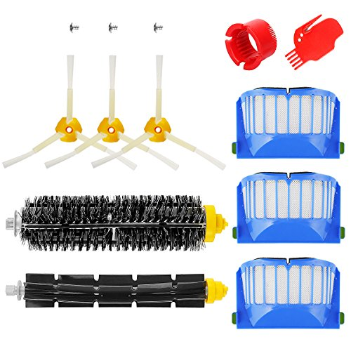 Powling Kit Brushes Spare Parts for IRobot Roomba Series 600 610 620 650