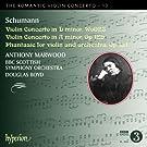 Schumann: Romantic Violin Concerto 13 (D Minor/ A Minor/ Phantasie) (Anthony Marwood; BBC Scottish Symphony Orchestra; Douglas Boyd) (Hyperion: CDA67847)