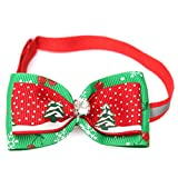 Kungfu Mall Pet Cat Dog Collar Christmas Bow Tie regolabile Pet collari papillon lovely Sweet collo decorazione albero di Natale neve modello party wedding Decor