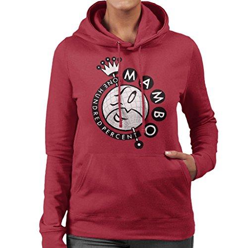 Mambo Crown Logo Women's Hooded Sweatshirt Cherry Red