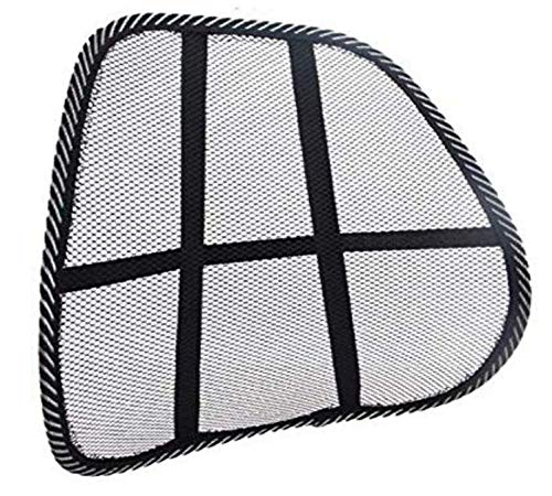 LINSUNG Supporto rete mesh supporto lombare per alleviare la lombalgia r, supporto schienale schienale in rete per sedia da ufficio sedile automatico seggiolino auto black