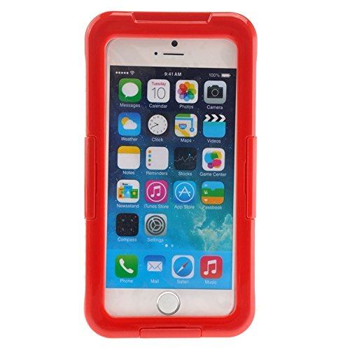 wkae Schutzhülle Case & Cover für iPhone 6Plus & 6splus IP68wasserdichte Schutzhülle mit Trageband rot