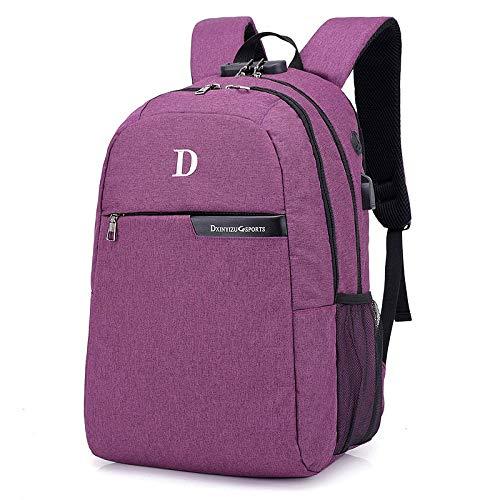 GDMXYD Business Rucksack,Reise Laptop Backpack mit Türkis-Futter, Laptop Tasche, Daypack und Tagesrucksack für Männer und Frauen Wasserabweisend -