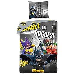 Ropa de cama Lego The Batman Movie para niños, algodón, 140x 200cm