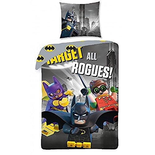 Lego The Batman Movie Kinder Bettwäsche Baumwolle 140 x 200 cm (Lego Batman Bettwäsche)
