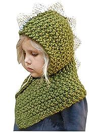 Formesy Bambino Maglia di Lana Berretti Cappelli Dinosauro Scialli Cappello  Autunno Sciarpa Protezione Cappello Unicorno Invernale f9c1a52921e1