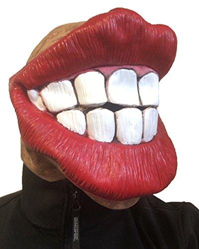 Jagger Mick Kostüm - Funny Huge Smiley Lippen Maske, Erwachsenengröße, kitschigen Grins, Fancy Kleid Masken