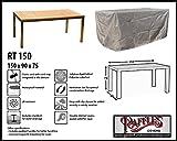 RT150 Schutzhülle für rechteckige Gartentisch, passt am besten am Tisch von max. 150 x 80 cm Schutzhülle für rechteckigen Gartentisch, Abdeckhaube für Gartentisch, Gartenmöbel Abdeckung