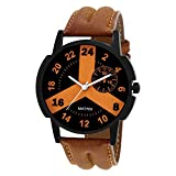 Matrix Casual Tan Leather Strap Men's Wa...