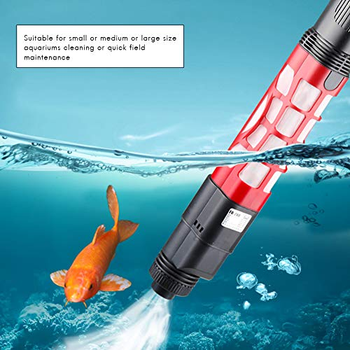 Surenhap Elektrischer Fischbehälter Staubsauger 2-in-1 Siphon Aquarium Mulmsauger Kies Wasserfilter Reiniger Sand Unterlegscheibe