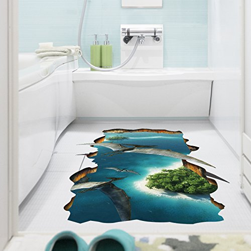 3D-Tapeten Schlafzimmer Wohnzimmer Wandaufkleber Umwelt dekorative Nursery entfernbare Wandaufkleber (60 * 90cm)