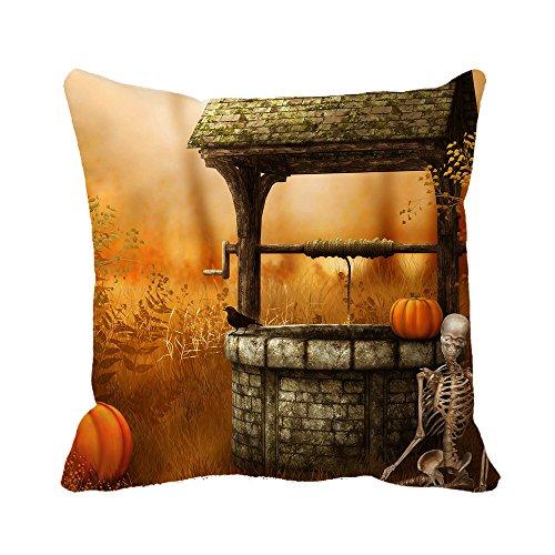 Warrantyll zucche di halloween pipistrelli cat copricuscino cuscino in cotone copre, cotone, #color 1, 16*16