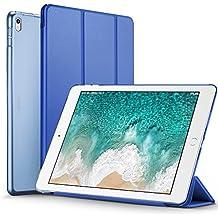 ESR Funda iPad Pro 10.5 con Auto-Desbloquear y Función de Soporte [Ligera] de Cuero Sintético y Plástico Duro Transparente Esmerilado Cover Cáscara para Apple iPad Pro 10.5 Pulgadas -Azul