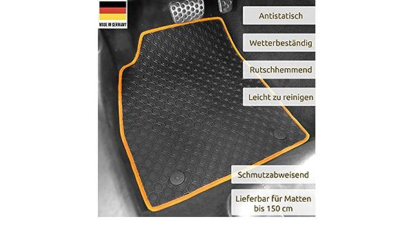 Gummimatten Auto Fußmatten Schwarz Passgenau Rand Band Orange Os 3336 Auto
