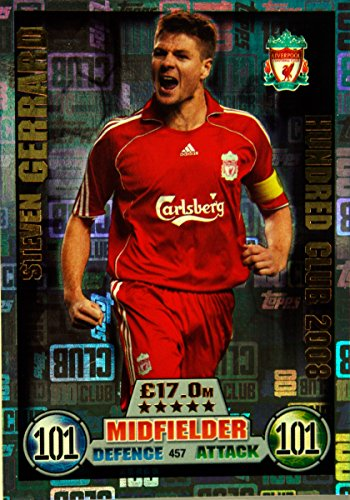 Match Attax 16 17   Steven Gerrard Liverpool 100 CLUB LEGEND    457