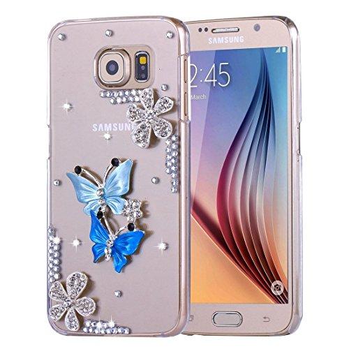 FeiNianJSh Für Samsung Galaxy S6 Diamant verkrustete Sonnenblume Perle Bell Muster PC Schutzhülle Rückseite (SKU : SAS1031B) (Sonnenblumen-bell)